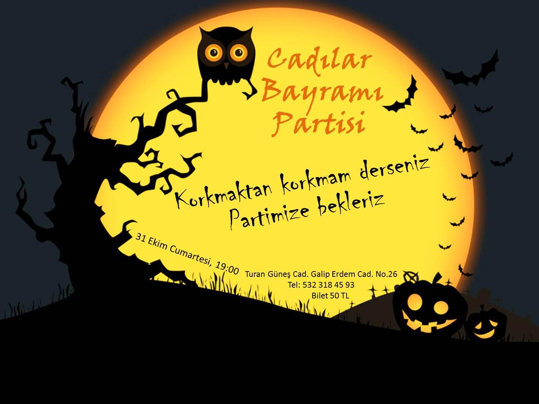 Cadılar Bayramı Partisi – Halloween PartyAnkara Etkinlik